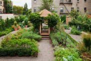 Bette Midler: Rooftop gazebo and garden