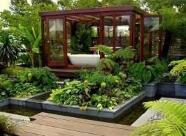Sauna in the garden