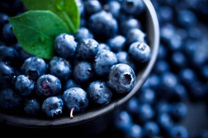 Blueberries, helps us let go