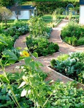 Veggie garden path
